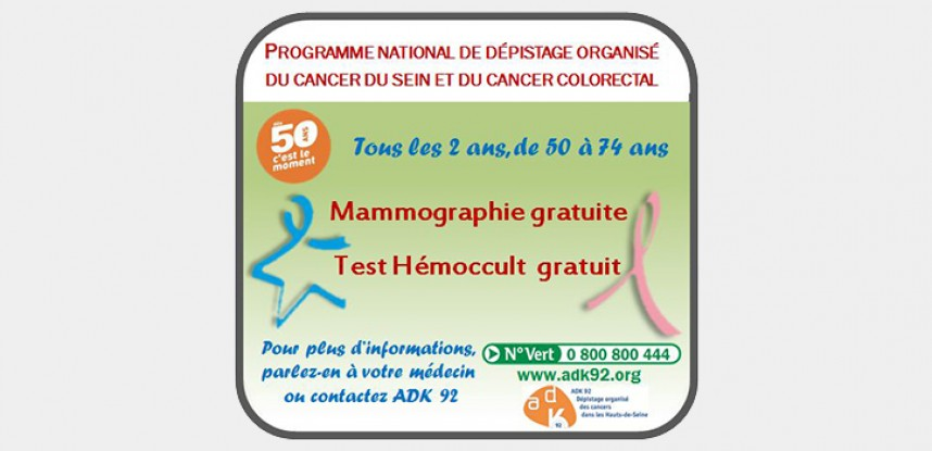 Mars Bleu, dépistage du cancer colorectal